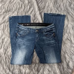 Express Rerock 4S bootcut low-rise jeans